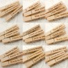 Wooden Pegs with Love Themed Engravings (Set B - 5 Designs)