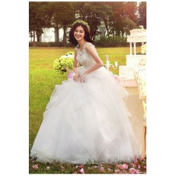 2017 New Spring & Summer Korean Style Tank Sleeveless Wedding Dress
