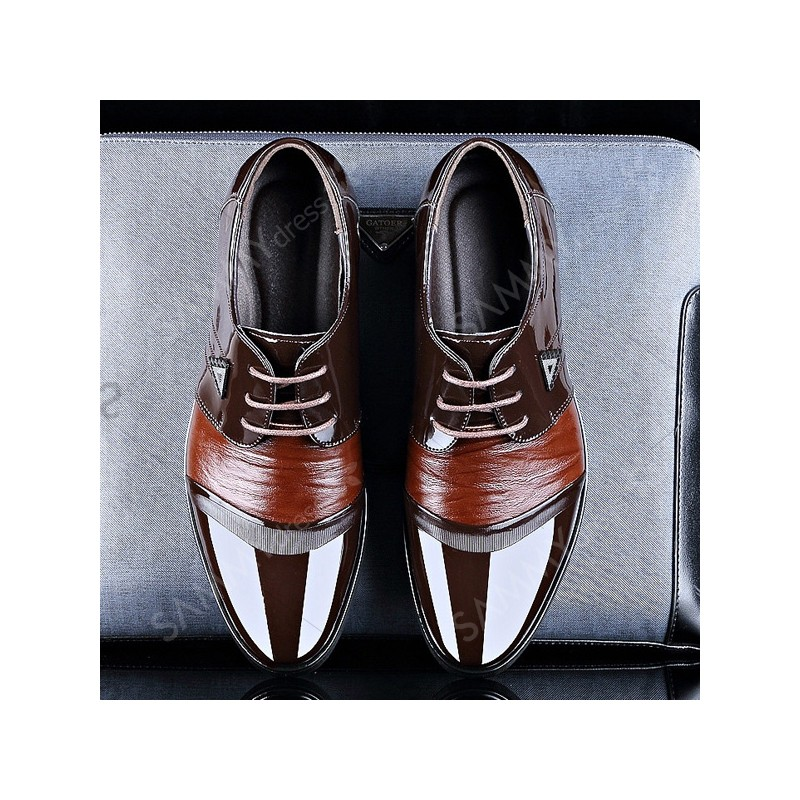 Fashion Men 39 S Formal Shoes With Patent Leather And Lace Up