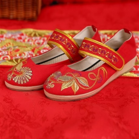 New Arrival Chinese Traditional Mary Jane Wedding Flats