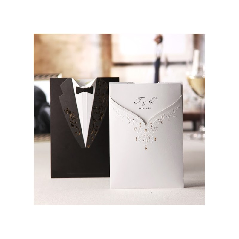 ... Cards > Laser Cut Cards > Bride & Groom Wedding Invtaition Card