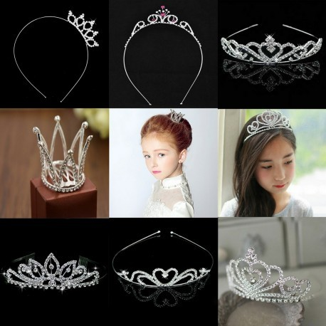 Rhinestone Flower Girl Tiara Hairband (Set 1: 4 Designs)