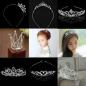 Rhinestone Flower Girl Tiara Hairband (Set A: 4 Designs)