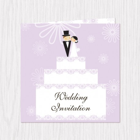Wedding Gift Opening : Home > Gifts & Cards > Wedding Cake Design Folded Cards - 100 pcs (...